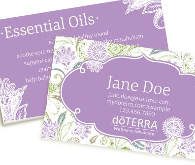 Paisley Dream (Purple) doterra business card
