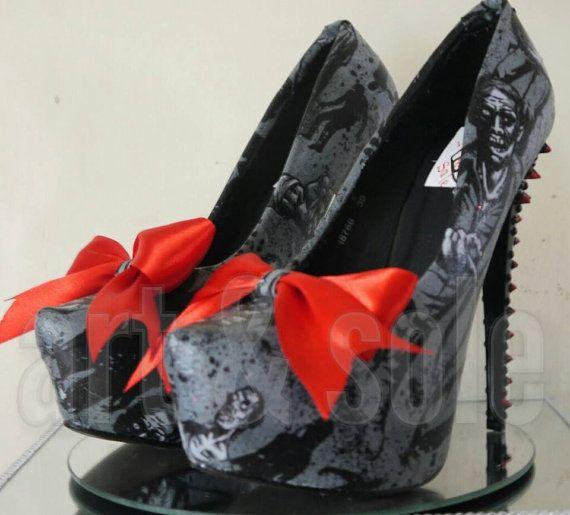 Stunning OOAKcustom made customised fabric by artandsoleshoes
