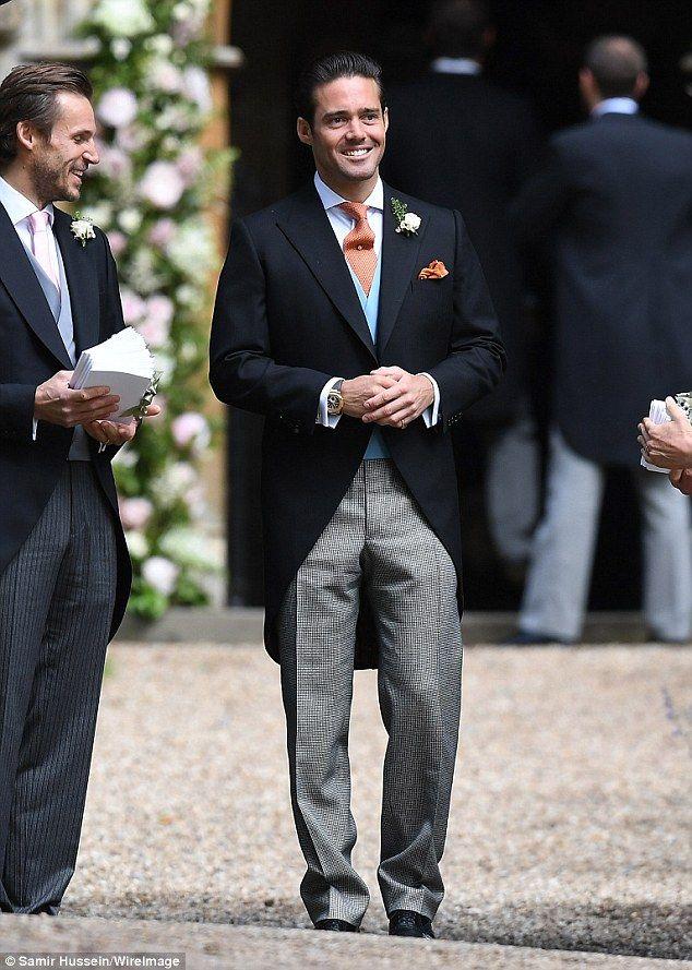 Spencer Matthews arrives at brother James' wedding to Pippa Middleton #dailymail