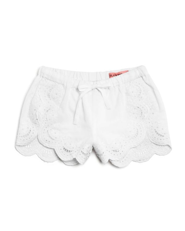 Blanknyc Girls' Linen Blend Eyelet Shorts - Sizes 7-14