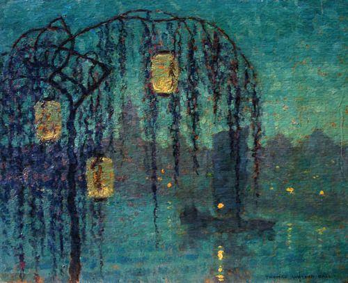 Chinese Lanterns at Night|Thomas Watson Ball|(1863 - 1934)