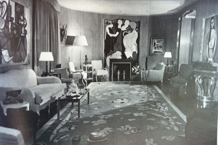 48 best beautiful interiors jean michel frank images on for 1930s living room design