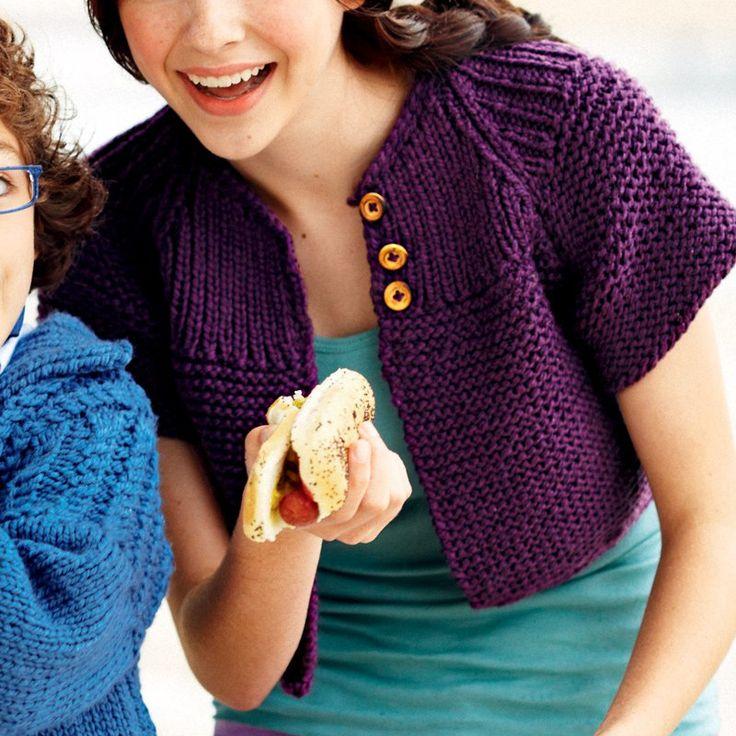 Un boléro en tricot