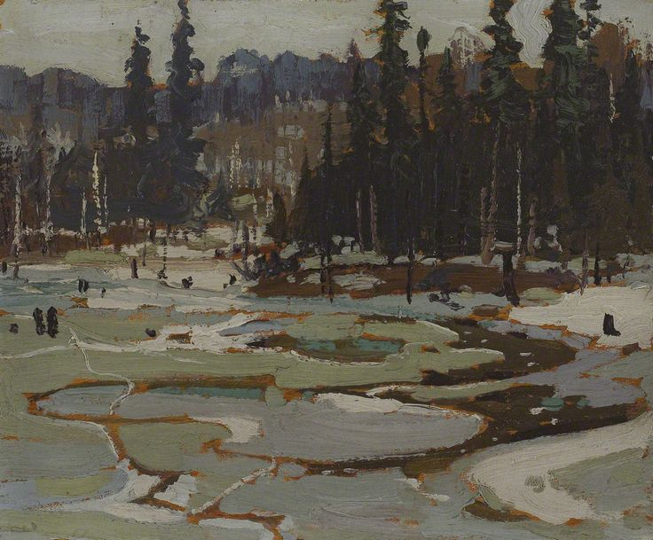 Tom Thomson Portage, Ragged Lake, 1917 Oil on Wood 21.5 x 26.8 cm
