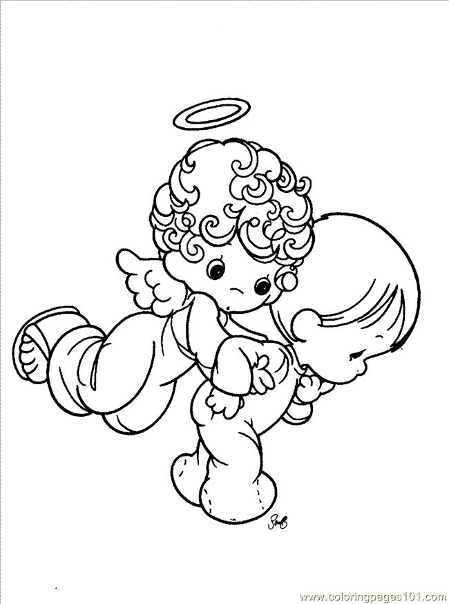 Angel and baby precious moments coloring pages precious moments cartoon coloring pages