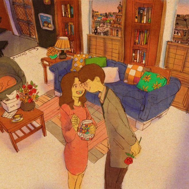 Südkoreanischer Künstler beschreibt Paarleben durch entzückende Illustrationen