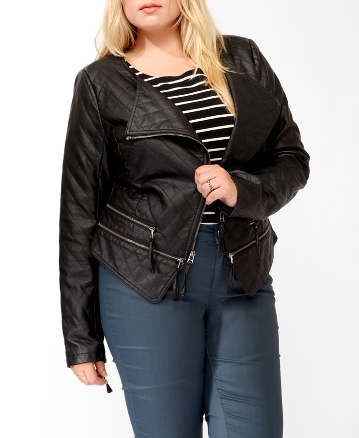 Quilted Zippered Moto Jacket   FOREVER21 PLUS - 2019572478Fabulous Style, Motorcycles Jackets, Size Fashion, Fall Jackets, Quilt Zippers, Size Style, Zippers Moto, Moto Jackets, Casual Clothing