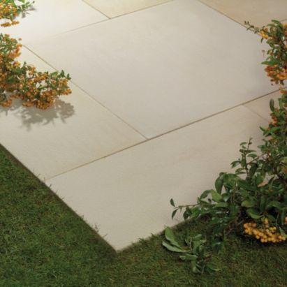 Natural Patio & Premium Fitting Kit, Arabian Sand, 10.08m², 5060076627469