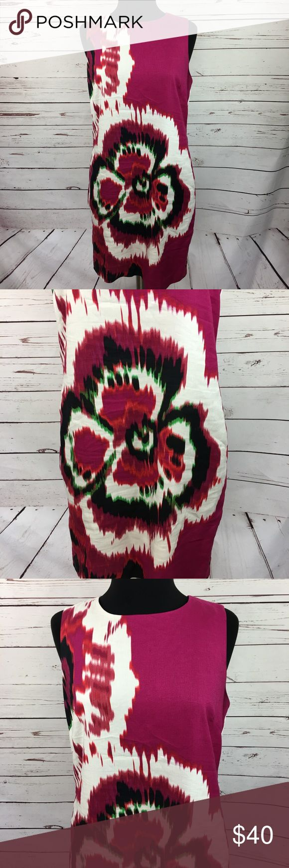 """Taylor Tie Dyed Floral Pink Sleeveless Shift Dress Taylor women's pink floral tie dye sleeveless shift dress. Size 12. 55% silk 45% linen. Fully lined. Zipper in back.  Underarm to Underarm: 20""""  Top shoulder to bottom: 37""""  1D817429 Taylor Dresses Dresses"""