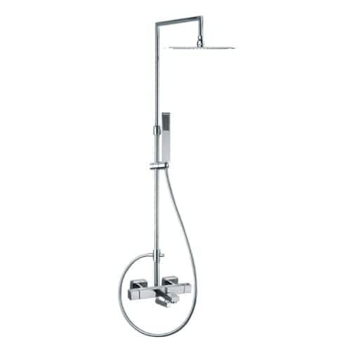 Nameeks US-4756RK300 Ramon Soler Tub and Shower Package with Shower Head, Handshower with Hose, Slide Bar, Tub Spout, and, Silver stainless steel
