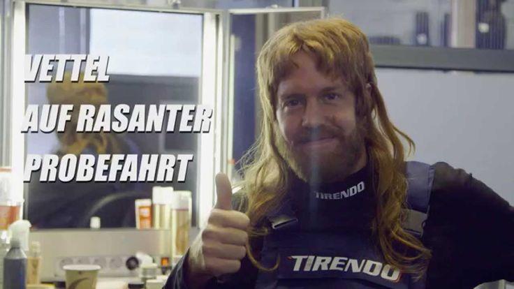 Sebastian Vettel getarnt als wilder Automechaniker - Tirendo // Prank