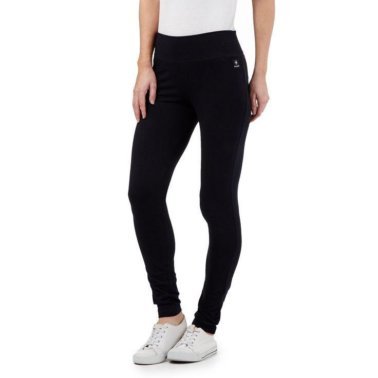 Navy wide waistband leggings - Trousers & leggings - Debenhams.com