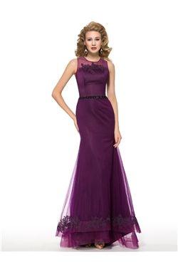 Button Elegant & Luxurious Natural Floor-Length Wedding Party Summer Appliques Jewel Dress