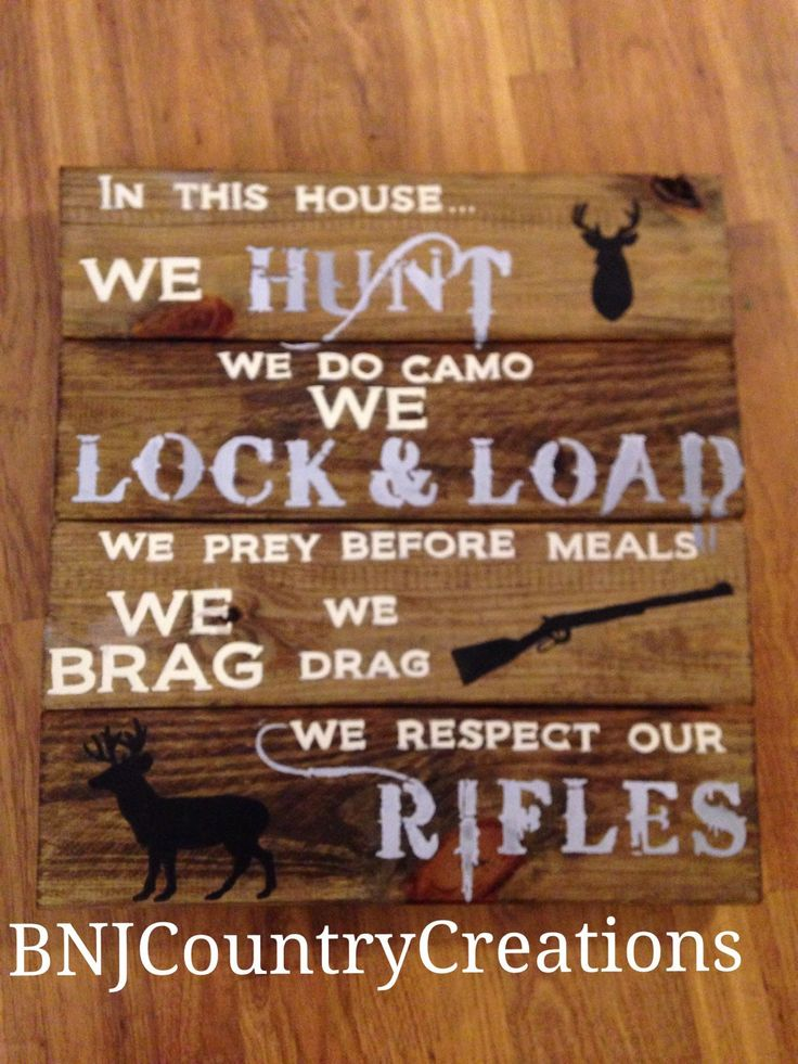 Rustic Man Cave Nation : Hand painted country rustic hunting sign man cave or