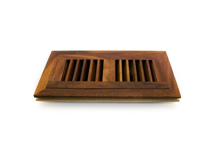 """Flush mount wood vents sit flush with 3/4"""" hardwood flooring.  These vents are installed at the same time as your hardwood, and provide a seamless finish to your floor.      A flush mount wood vent, in a complimenting colour to your hardwood is the ultimate finishing touch."""
