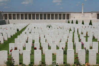 The British Cemetery and Pozières Memorial is located on the D929 Albert-Bapaume road, just south of the village of Pozières; and 6km north-east of Albert.