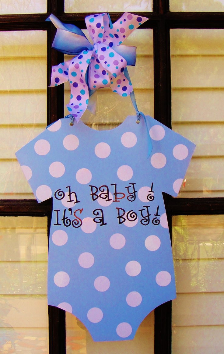 All new original design.  Metal onesie doorhanging for new baby boy.  You choose colors and personalization.  Oh So Adoorable, llc on FB!