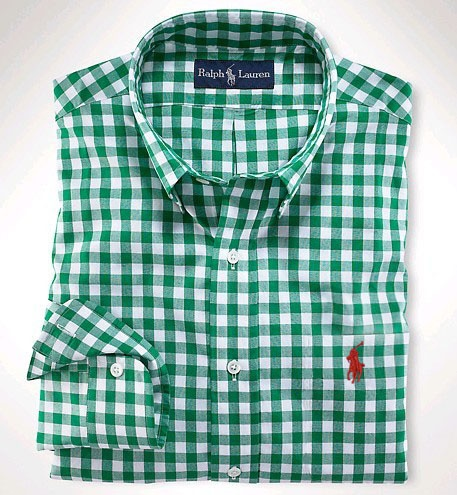17 best images about polo ralph lauren jackets on for Mens green gingham dress shirt