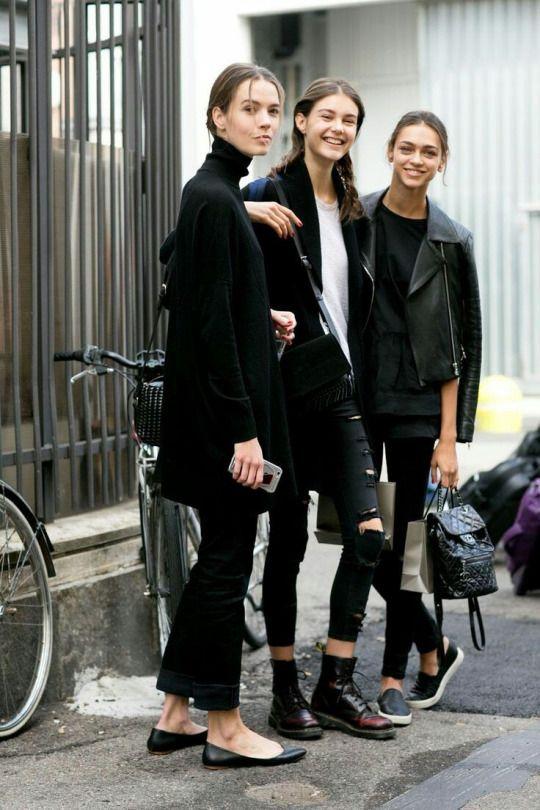 Fashion friends- models off-duty.