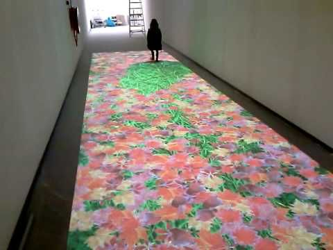 Interactive floor with leaf effect - YouTube