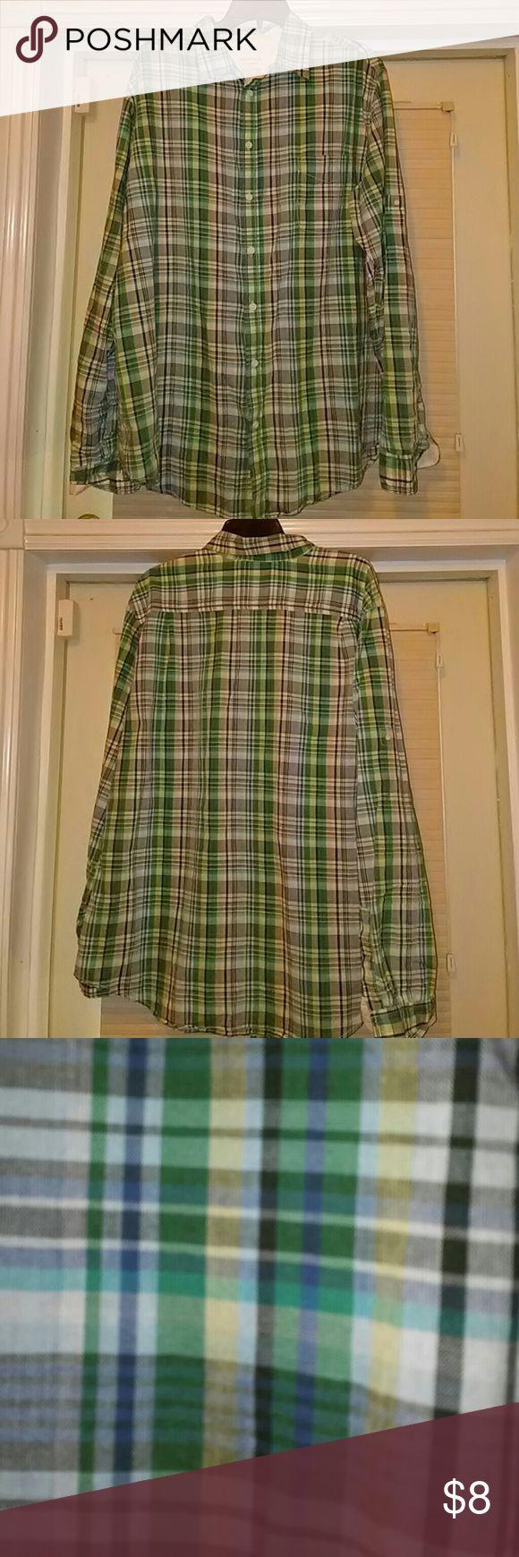Men casual XL plaid shirt by Merona Men casual shirt Merona Shirts Casual Button Down Shirts