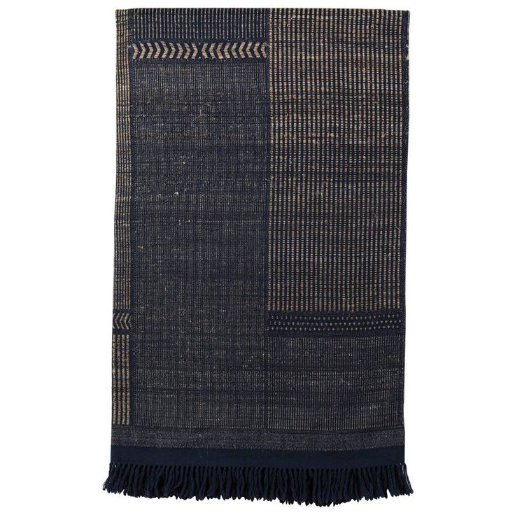Indian Handwoven Raw Silk and Wool Bedcover | 1stdibs.com