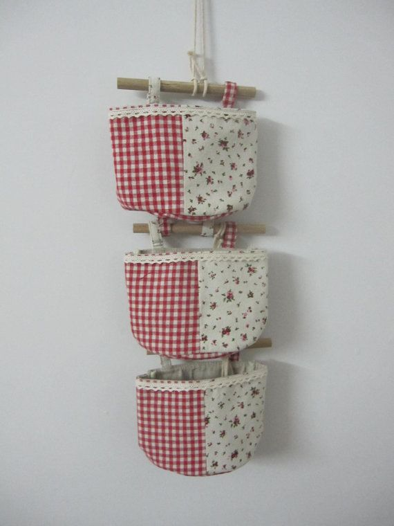 small flower 3 pcs Eco wall jute Storage bag / by Lostpigeon, $18.50