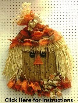 Scarecrow Head Burlap Mesh Project