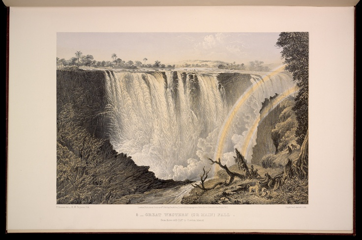 Plate 5: Great Western (or main) Fall, from three rill Cliff to Garden Island.