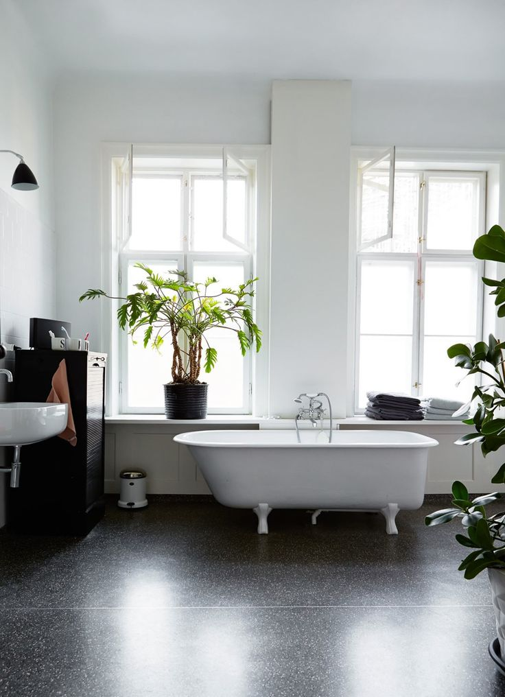 bathtub in a spacious Copenhagen apartment