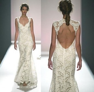Ivory lace with a latte colored silk slip.  I love the cut out back: Lace Wedding Gowns, Lhuillier Scarlet, Monique Lhuillier, Wedding Dressses, Lace Wedding Dresses, Vintage Lace, Dreams Dresses, The Dresses, Lace Dresses