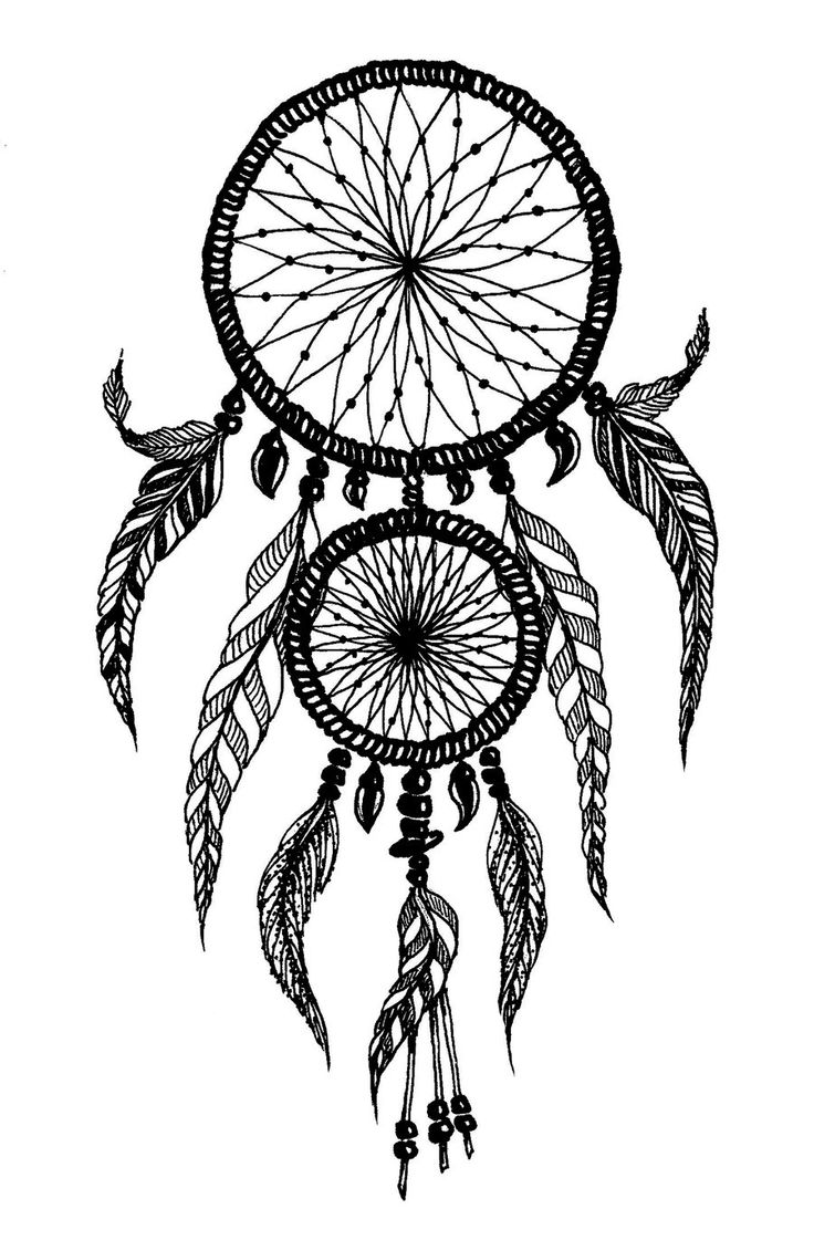 Coloring pages dream catchers - Dreamcatcher Karin Orthern
