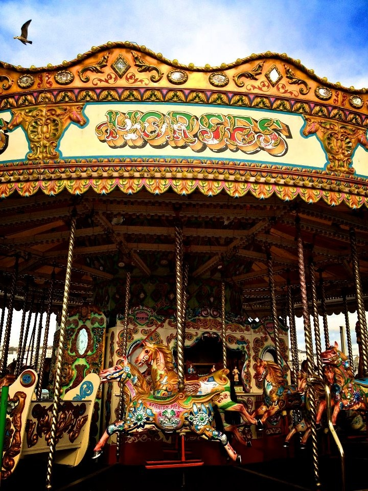 LOVE carousels - always has been and probably will always be my favorite 'fair' ride :)