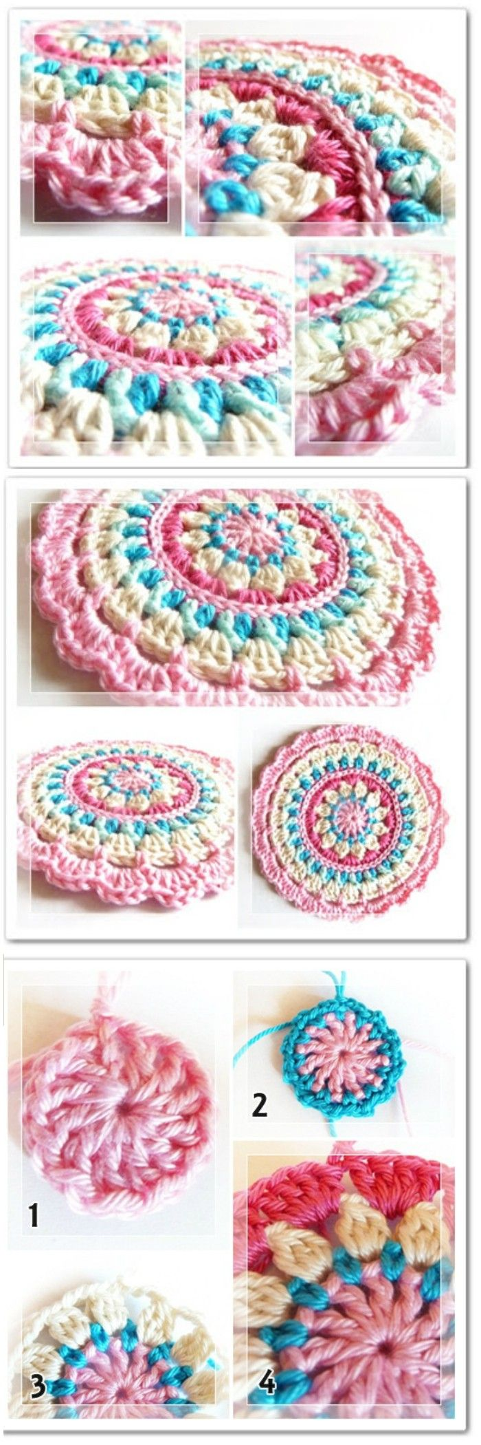 We are sharing here free crochet mandala patterns that differ from each other in style, geometric patterns and in color schemes!Crochet Little Spring Mandala