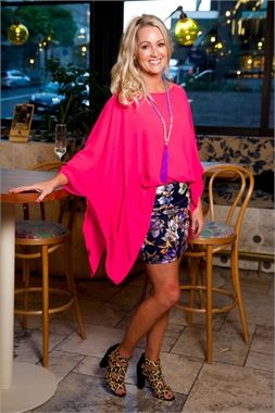 Envelope Top Pink Cerise-spring-2016-Augustine by Kelly Coe