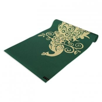 Wai Lana Pilates Yoga | ... Extra Thick Yoga Mats | Wai Lana Himalaya Yoga & Pilates Mat 6mm Thick ok SO jealous! A peacock print mat on green? You're MINE!