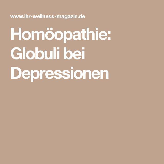 Homöopathie: Globuli bei Depressionen