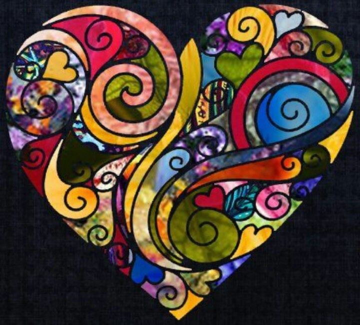 Colorful Heart.  Artist and Medium Unknown.