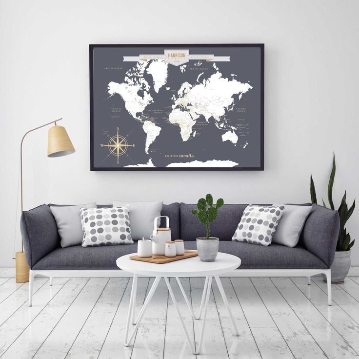 8 best Fun Design images on Pinterest Abstract, Abstract acrylic - best of world map grey image