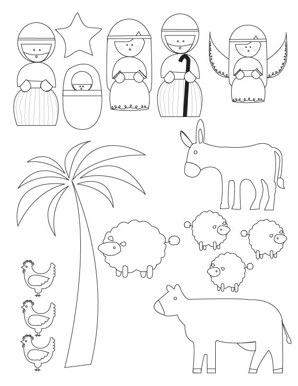 Nativity puppets printable worksheet search results for Nativity printable coloring pages