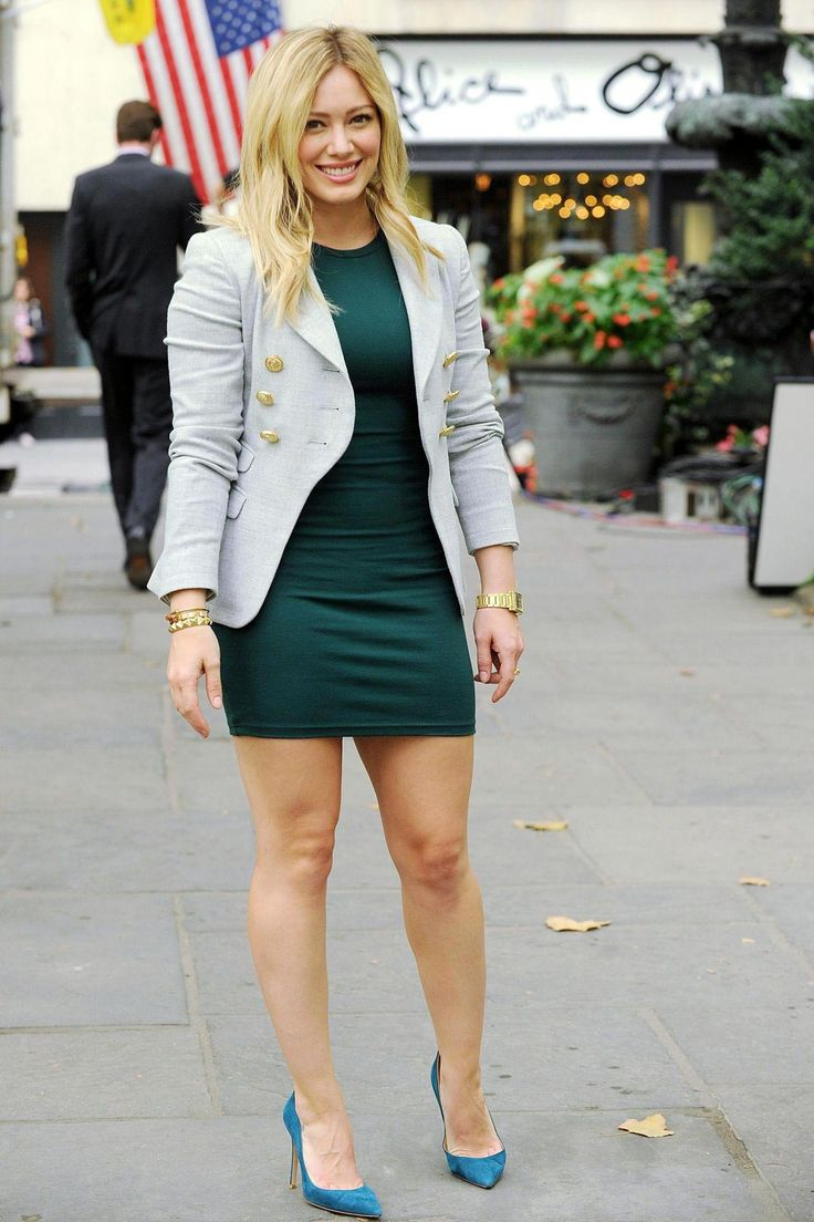 Hilary Duff in Mini Dress – 'Younger' TV Series Set Photos (September 2014)