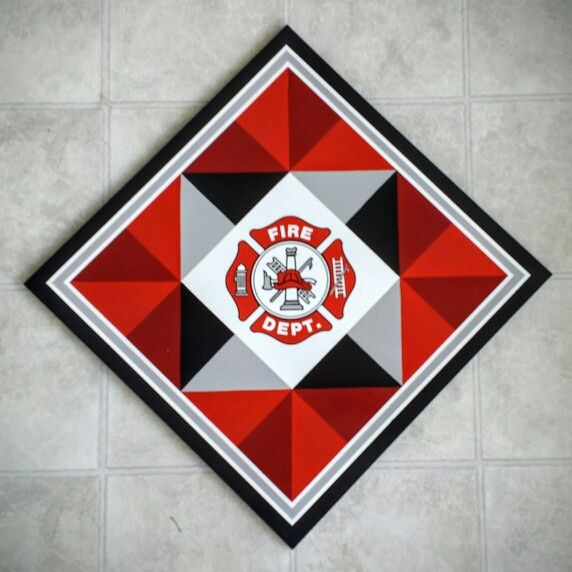 "24"" Firefighter Barn Quilt  $120"