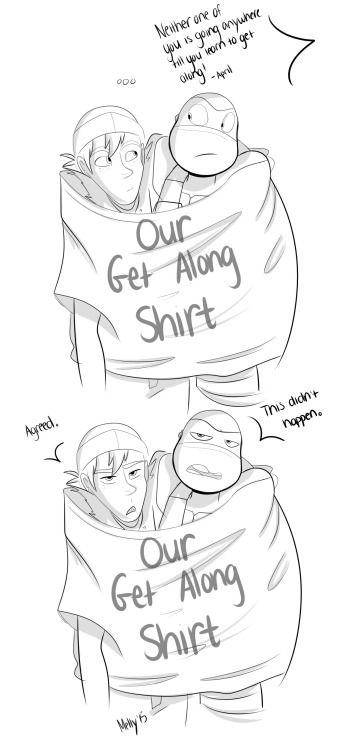 The get along shirt (source in the link!) #TMNT #Donnie #Casey