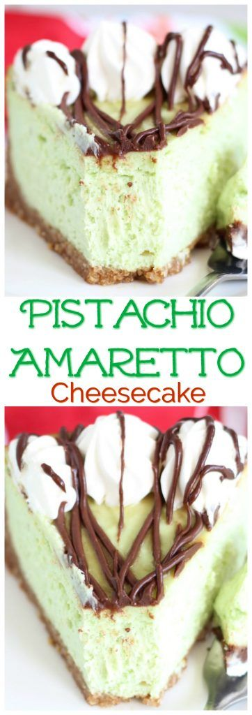 This Amaretto Pistachio Cheesecake is the ultimate springtime cheesecake. So pastel and pretty and full of a wonderful combination of flavors!