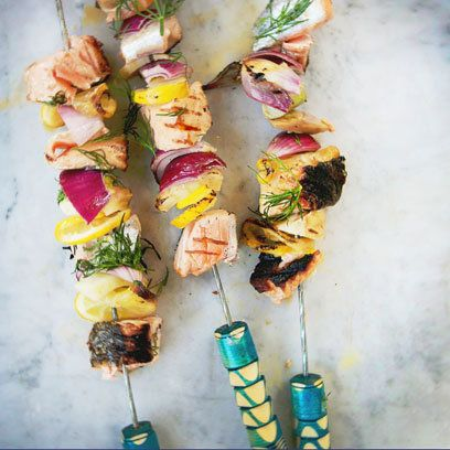 Fish kebabs from Eat Nourish Glow by Amelia Freer | Nutritional recipes | Food | redonline.co.uk