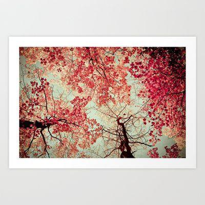 Autumn Inkblot Art Print by Olivia Joy StClaire - $19.00