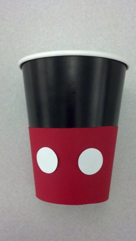 Mickey Mouse Birthday Party Cups set of 12 by MagicalFantasia