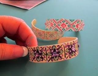 Popcicle stick bracelet
