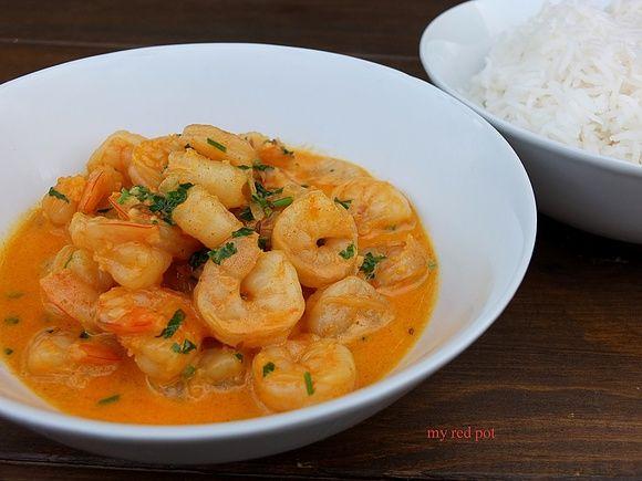 Krewetkowe kremowe curry