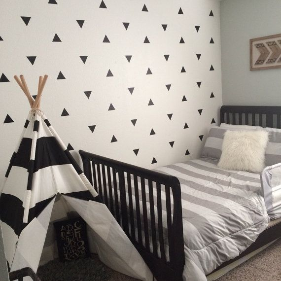 Triangle Wall Decals - Wall Tribe    TAKE 10% off - Use coupon code TRIANGLES. A very fast and affordable way to transform your wall. Easy to apply and ships fast.